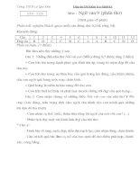 Đáp án đê KT văn 9, t129 (phần thơ)