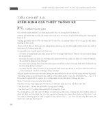 Nhập môn lý thuyết xác suất và thống kê toán - Phần 2 ppt
