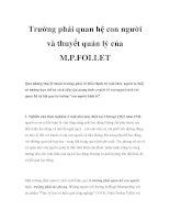 Trường phái quan hệ con người và thuyết quản lý của M.P.FOLLET pot