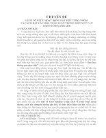 Môn Ngữ Văn:CÁCH TỔ CHỨC HOẠT ĐỘNG DẠY HỌC THEO NHÓM   VÀ CÁCH ĐẶT CÂU HỎI, THẢO LUẬN TRONG MÔN NGỮ VĂN  THEO HƯỚNG ĐỔI MỚI