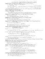 Các dạng phương trình đường thẳng trong KG