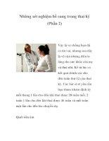 Những xét nghiệm bổ sung trong thai kỳ (Phần 2) ppsx