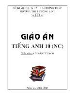 Giáo án Tiếng Anh lớp 10 - Phần nâng cao - Unit 1 - Lesson 8 ppt