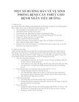 MỘT SỐ HƯỚNG DẪN VỀ VỆ SINH PHÒNG BỆNH CẦN THIẾT CHO BỆNH NHÂN TIỂU ĐƯỜNG ppt