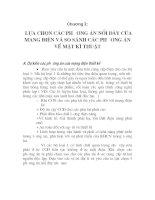 đồ án môn học mạng lưới điện, chương 2 docx