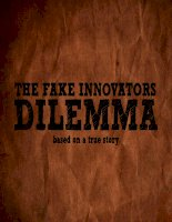 The Fake Innovator Dilemma based on a true story