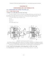 Kỹ thuật ô tô - Chuẩn đoán các hệ thống ô tô (P1) doc