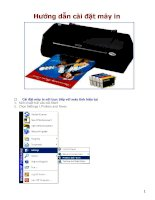 hướng dẫn cài đặt máy in