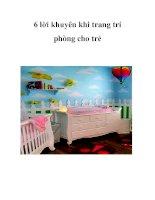 6 lời khuyên khi trang trí phòng cho trẻ pot