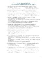 462 câu hỏi trắc nghiệm ôn tập lý thuyết tiền tệ và chính sách thương mại quốc tế