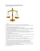 đề cương ôn tập luật dân sự