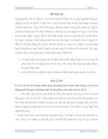 đề thi môn luật tố tụng dân sự (kèm lời giải) - đề 18