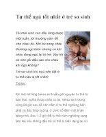 Tư thế ngủ tốt nhất ở trẻ sơ sinh pdf