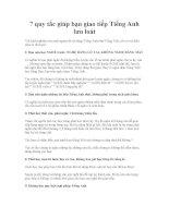 7 quy tắc giúp bạn giao tiếp tiếng anh lưu loát