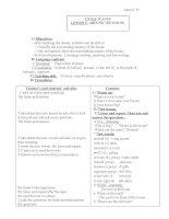 Bài giảng tiếng Anh - Phần 1 potx
