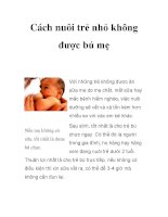 Cách nuôi trẻ nhỏ không được bú mẹ pdf