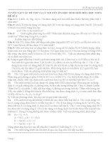 tuyển tập các đề thi và lý thuyết ôn học sinh giỏi hóa học thcs