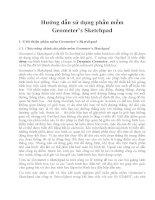 Hướng dẫn sử dụng phần mềm Geometer''''s Sketchpad ppsx