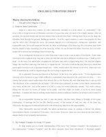 Dự thảo Văn học tiếng Anh pdf