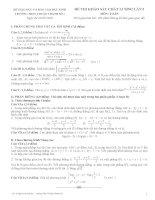Đề và đáp án thi thử ĐH môn Toán Trường Thuận Thành 1 - Bắc Ninh potx