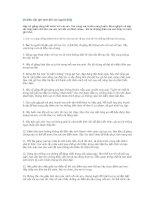 20 điều cần ghi nhớ đối với người thầy