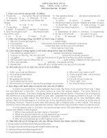 Đề thi học kỳ II Tiếng Anh 9