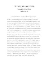 LUYỆN ĐỌC TIẾNG ANH QUA CÁC TÁC PHẨM VĂN HỌC –TWENTY YEARS AFTER ALEXANDRE DUMAS CHAPTER 10 pdf