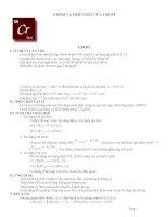 Lý thuyết và bài tập Crôm và hợp chất Crôm