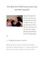 Giải pháp cho 20 điều hoang mang trong quá trình mang thai pptx