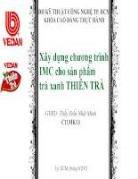 Xây dựng chương trình IMC cho sản phẩm trà xanh thiên trà