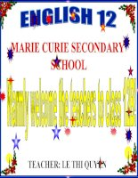 English 12  unit 1 language focus