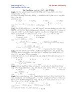 Đề ôn thi Cao đẳng môn Hóa khối A pot