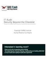 snort intrusion detection system audit auditors perspective 65