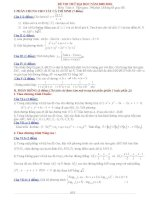 Thi thử ĐH môn Toán A (2009 - 2010) + đáp án doc
