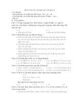 Đề cương ôn tập học kì 2 lớp  8 môn Tin
