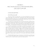 ẢNH HƯỞNG CỦA CÁC YẾU TỐ ĐẦU VÀO ĐẾN HIỆU QUẢ KINH TẾ CÂY CÀ PHÊ TỈNH ĐĂK NÔNG - CHƯƠNG 2 pptx
