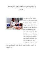 Những xét nghiệm bổ sung trong thai kỳ (Phần 1) pptx