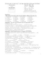 Đề đáp án HSG Tỉnh môn Tiếng Anh Thanh Hoá