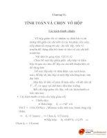 bài giảng môn học thiết kế hệ thống tự động cơ khí, chương 11 ppt