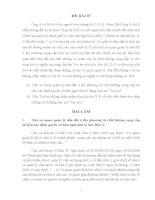 đề thi môn luật tố tụng dân sự (kèm lời giải) - đề 7