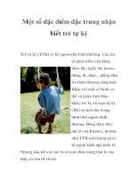 Một số đặc điểm đặc trưng nhận biết trẻ tự kỷ pptx