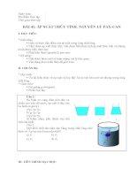 Bài 41 - Áp suất thủy tĩnh - Nguyên lý Pascan
