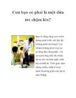 Con bạn có phải là một đứa trẻ chậm lớn? pptx