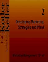 Developing Marketing Strategies and Plans ppsx