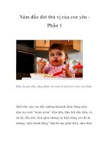 Năm đầu đời thú vị của con yêu Phần 1 pdf