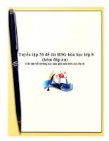 Tuyển tập 50 đề thi học sinh giỏi môn hóa học 8 (kèm đáp án)
