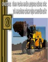 tính toán khối lượng công tác và khoảng cách vận chuyển đất