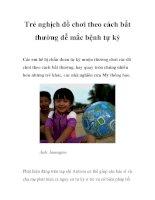 Trẻ nghịch đồ chơi theo cách bất thường dễ mắc bệnh tự kỷ ppt