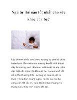 Ngủ tư thế nào tốt nhất cho sức khỏe của bé? doc