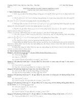 Các dạng phương trình mặt phẳng trong không gian